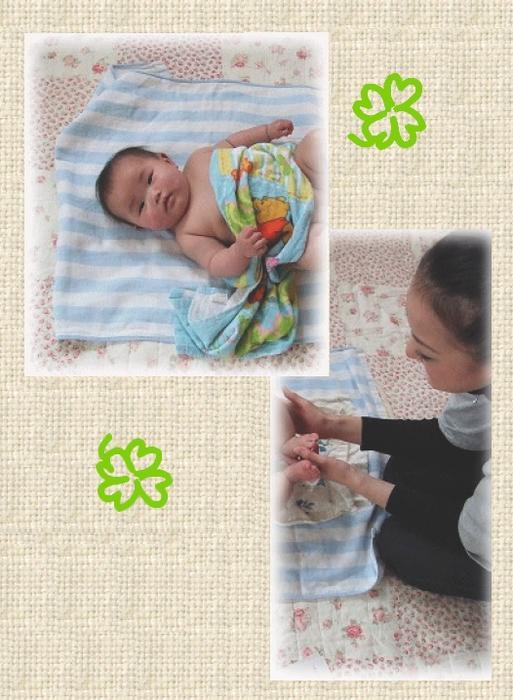 かわいい赤ちゃんが参加してくれました。<br /> ママにマッサージされ、気持ちよさそうでしたよ。