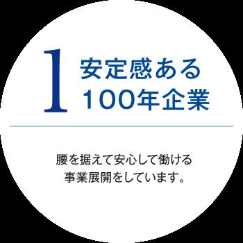1.安定感ある100年企業
